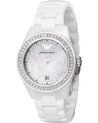 Emporio Armani Womens White Ceramic Bracelet - Lyst
