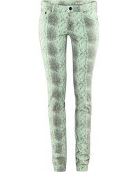 H&M Sqin Jeans green - Lyst