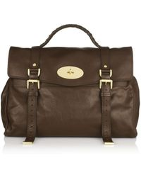 Mulberry Oversized Chocolate Alexa Bag - Lyst
