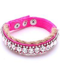 Juicy Couture - Rhinestone Jute Bracelet - Lyst