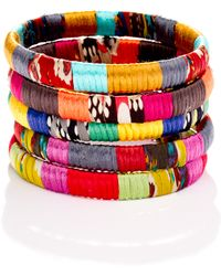 Cara - Cara Accessories Mixedfabric Bangle - Lyst