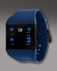 01 The One Watches - Slim Square Watch, Blue - Lyst