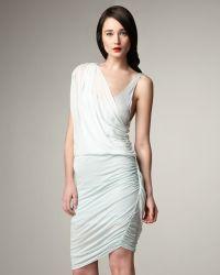 Alice + Olivia One-shoulder Drape Dress - Lyst