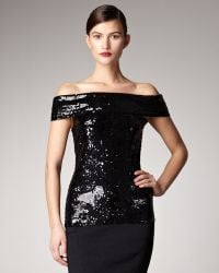 Donna Karan New York Sequined Off-the-shoulder Tunic - Lyst
