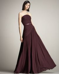 Elie Saab Strapless Draped Gown - Lyst