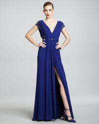 Elie Saab Lacesleeve Gown - Lyst