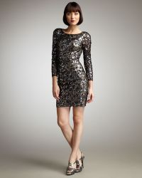 Mandalay - Sequined Long-sleeve Dress - Lyst