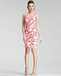 Oscar de la Renta Floral-print Pique Dress - Lyst
