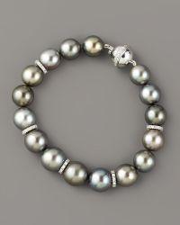 Assael - Tahitian Pearl & Diamond Bracelet - Lyst