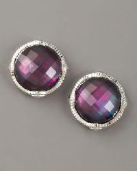 Judith Ripka - Corundum Doublet Stud Earrings - Lyst