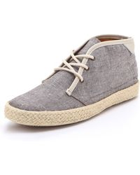 Pointer | Kc Lace Up Chambray Trainers | Lyst
