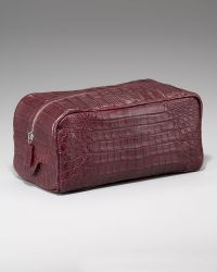 Santiago Gonzalez - Zip-top Crocodile Toiletry Bag - Lyst