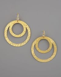 Stephanie Anne - Hammered Round Paris Earrings - Lyst