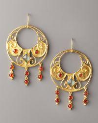 Stephanie Anne - Round Antiquity Earrings - Lyst