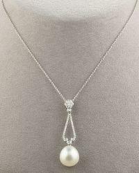 Assael - South Sea Pearl Diamond Drop Necklace - Lyst