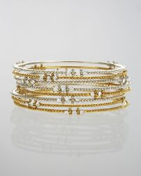 Chamak by Priya Kakkar - Crystal Stud Beaded Bangle Set - Lyst