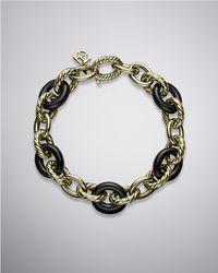 David Yurman - Oval Link Bracelet, Black Ceramic - Lyst