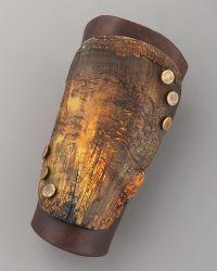 Donna Karan - Wood & Leather Cuff - Lyst