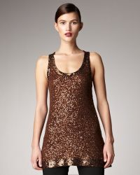 Donna Karan New York Sequined Sleeveless Tunic - Lyst