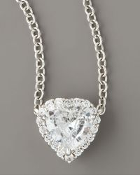 Fantasia by Deserio - Micro-pave Heart Pendant - Lyst