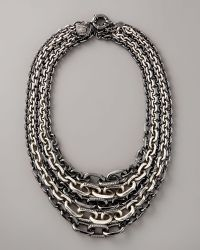 Giles & Brother - Multi-strand Chain Necklace - Lyst