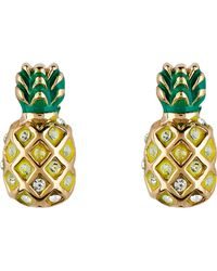 Juicy Couture | Gold Pineapple Earrings | Lyst
