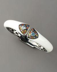 M.c.l  Matthew Campbell Laurenza - Art Deco Enamel Bangle, White - Lyst