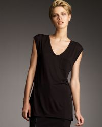 T By Alexander Wang Womens Jersey Pocket Muscle Tee black - Lyst