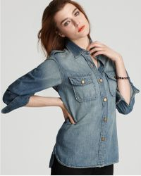 Ash - Currentelliott Shirt The Perfect Denim Shirt in Minor Wash - Lyst