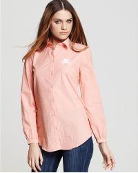 Ash - Burberry Brit Washed Stripe Button Down Shirt - Lyst
