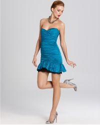 BCBGMAXAZRIA Dress Taffeta Dress - Lyst