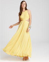 BCBGMAXAZRIA Gown Cutout Waist and Back - Lyst