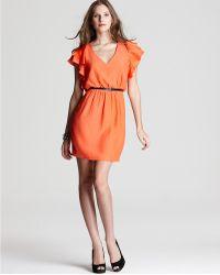 Julie Dillon - Dress Crepe Flutter Sleeve - Lyst