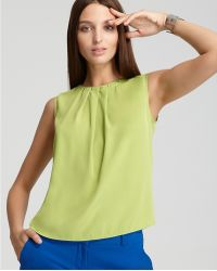 Vince Camuto Pleated Back Zip Blouse - Lyst