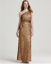 Aidan Mattox Sequin Dress One Shoulder - Lyst