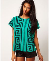 ASOS Collection Asos Tshirt in Block Print - Lyst
