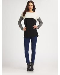 Vince Wool And Cashmere Colorblock Sweater - Lyst