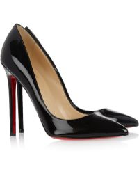 Christian Louboutin The Pigalle 100 Patent-Leather Pumps - Lyst