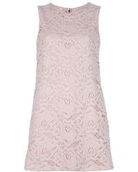 Dolce & Gabbana Lace Sleeveless Dress - Lyst