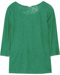 J.Crew Whisper Linen Jersey Top green - Lyst