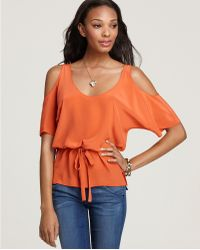 Laugh Cry Repeat Top Open Shoulder - Lyst