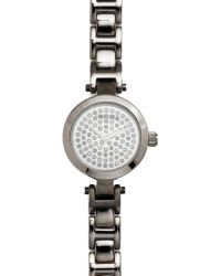 Carolee - Womens Hematite Tone Stainless Steel Link Bracelet 23mm - Lyst