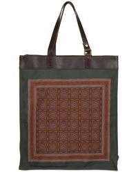 Ema...oh Leather and Silk Scarf Tote - Lyst
