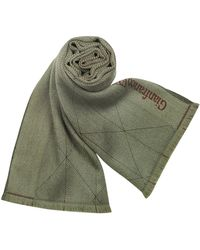 Gianfranco Ferré Signature Fringed Wool Long Scarf