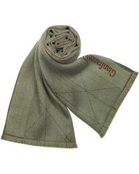Gianfranco Ferré - Signature Fringed Wool Long Scarf - Lyst