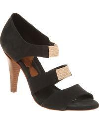 Get U - High 3 Strap Sandal Black Nubuck - Lyst
