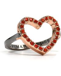 Marc By Marc Jacobs Annabelle Pavé Heart Ring - Lyst