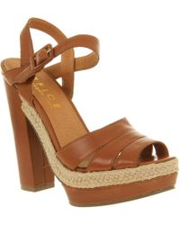 Office Kick Back Relax Tan Leather - Lyst