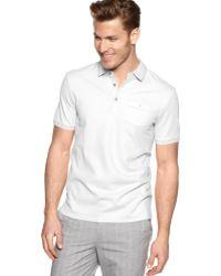 Calvin Klein Pocket Pique Polo Shirt - Lyst