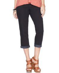 4c9702b8418 DKNY - Jeans Soho Cropped Straight Leg Jeans Black Overdye Wash - Lyst